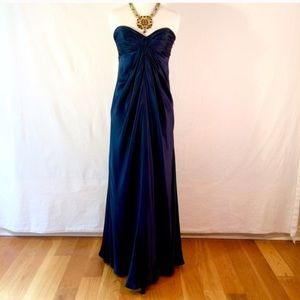 Laundry by shelli segal navy silk gown