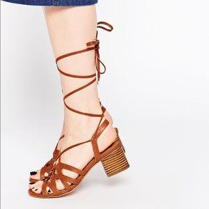 Lace Up Heel Sandals NWOT