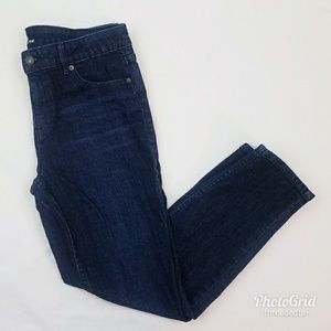 Dark Blue Classic Fit Ankle Skinny Jeans size 8