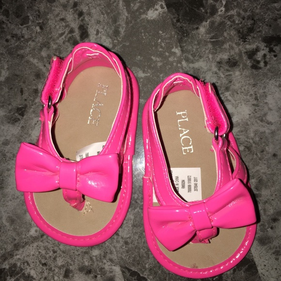 Childrens Place Pink Baby Girl Sandals