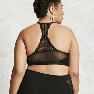 7b58aa12a8 Forever 21 Intimates   Sleepwear - 🍂 Plus Size Black Lace Strappy Bralette  🍂