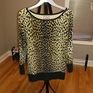 Juicy Couture Animal Print Tunic Top