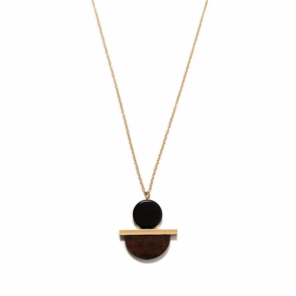 PRIVATE PARTY Jewelry - Original Design Handmade Mix Media Brass Necklace