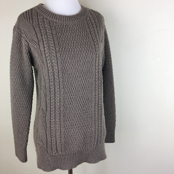 GAP Sweaters - GAP brown ribbed knitted long sleeve long sweater