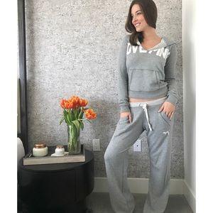 Grey sweat pants and matching sweater