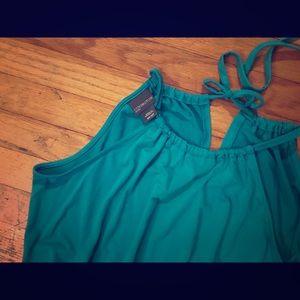 Beautiful stretchy green maxi full length dress