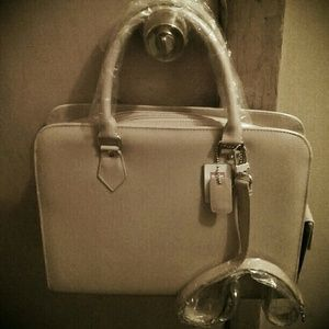 Handbags - NEW ASHLEY  TAN PATENT  HANDBAG/ SHOULDER