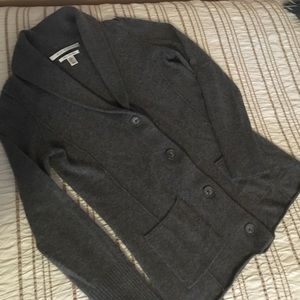 Cashmere sweater in Heather Gray