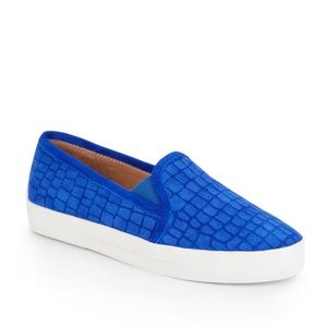 NEW Joie Blue Huxley Slip On Suede Sneakers