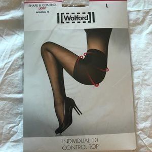 Wolford Ind 10 control top tights (NWT)