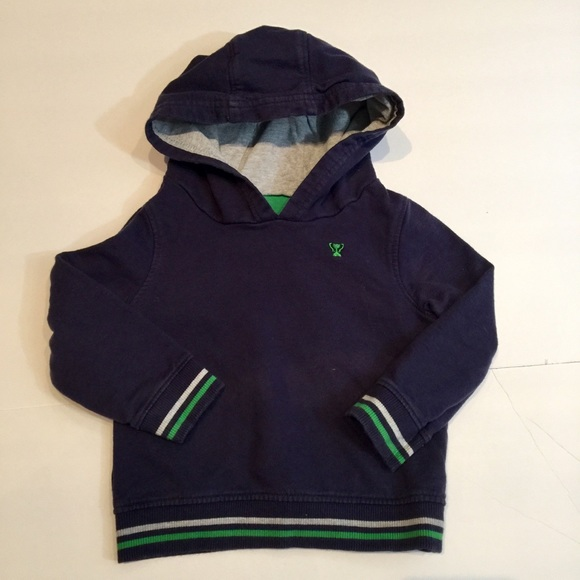 Other - Navy blue hooded sweatshirt 12-18m