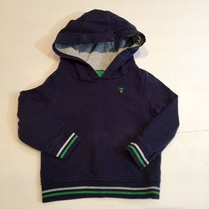 Navy blue hooded sweatshirt 12-18m
