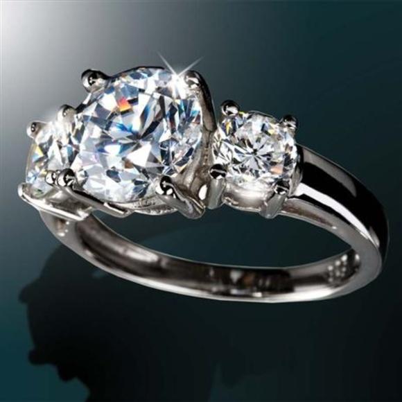 Stauer Jewelry Rings >> Stauer Jewelry 3 Stone Ring Poshmark