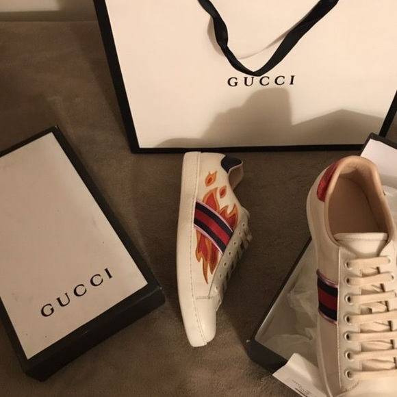 Gucci Shoes   Gucci Ace Flame   Poshmark