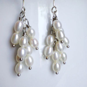 Fresh Water Pearl Tassel Ears NWOT