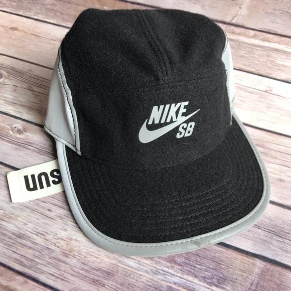 3c959a601d6 NWT Men s Nike SB Black Grey Wool Reflective Hat