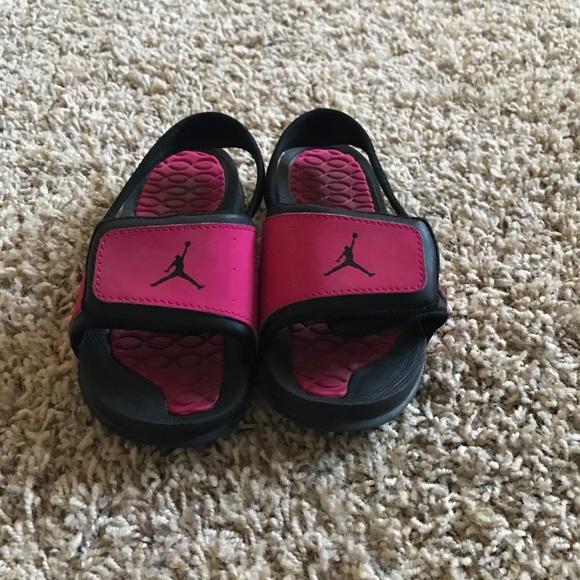 d6296663802685 Air Jordan Other - Toddler pink   black Jordan slides