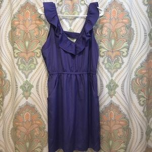 Purple Sleeveless Casual Dress