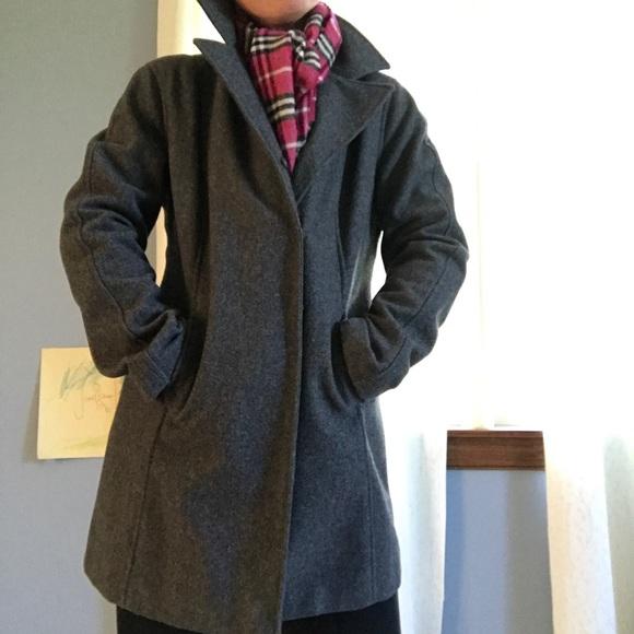 91% off So Blue Jackets & Blazers - Stunning unlined wool coat ...