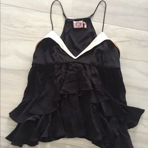 JUICY COUTURE BLACK SILKY CAMISOLE TOP 6