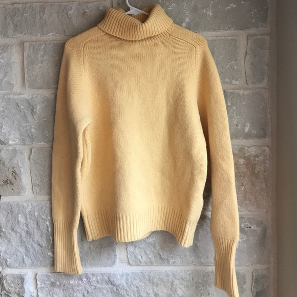 80% off Lands' End Sweaters - Lands' End Soft Yellow Knit ...