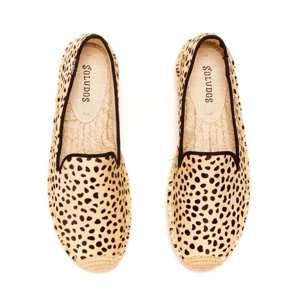 Madewell X Soludos Cheetah Calf Hair