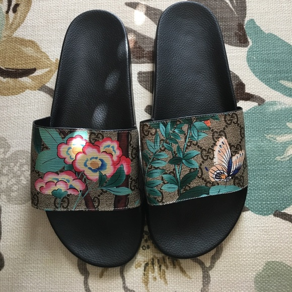 shoes floral bloom stylish slides with gucci logo poshmark