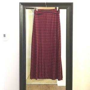 Jcrew stripe maxi skirt