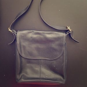 Vintage Leather Coach Bag Navy