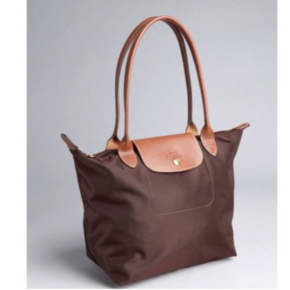 Longchamp Handbags - Longchamp Small Le Pliage Shoulder Tote In Brown 0f8cc0709bbb6