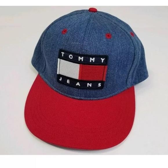 Tommy Hilfiger jeans logo men s hat cap red blue 67ca765d3752