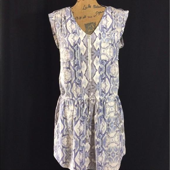 8bc127e54252bc Rebecca Taylor 6 Med 100% Silk Python Dress Pocket.  M 59cfcda07f0a05f3d8054567