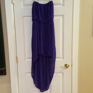 BCBGeneration high-low pleated dress