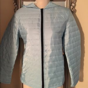 Jackets & Blazers - Ice Blue non-insulated zip-up ladies Jacket Sm