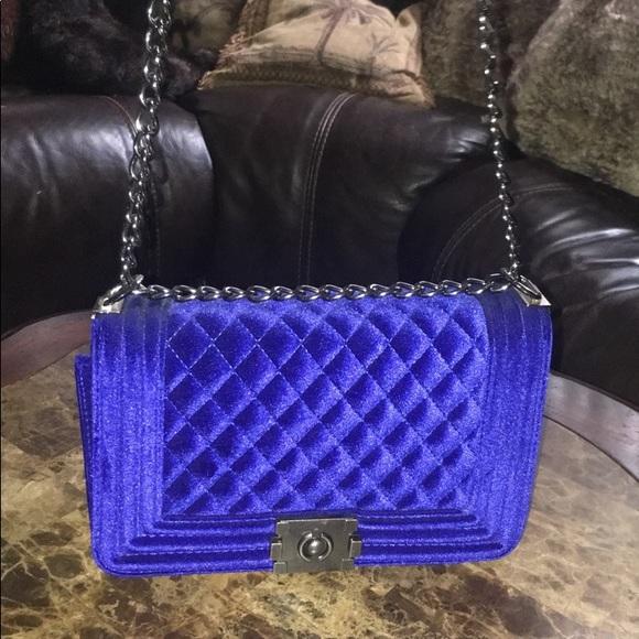2cac9ddf9fe96 Handbags - Royal Blue Velvet Purse (brand new)