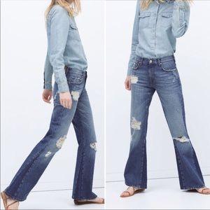 Zara Tribute 70's Flare jeans