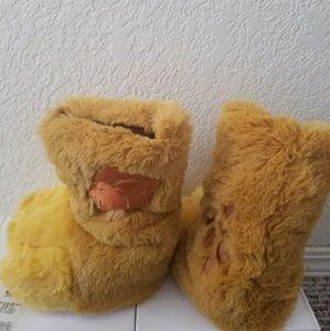 Disney Lion Paw Slipper Boots Toddler 5 6