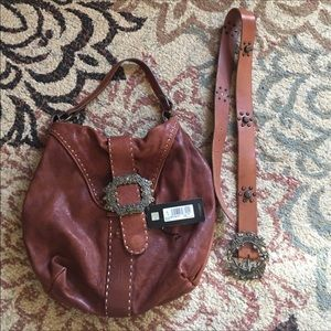 Beautiful soft leather Just Cavalli hobo and belt