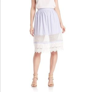 French Connection Women's Lace-trimmed Skirt Size2