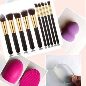 Other - 🎈SALE🎈 Bundle 10pcs Beauty Makeup Brushes Set