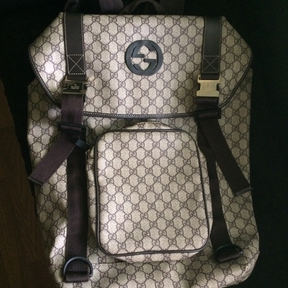 4059ffb71a74 Gucci Bags | Gg Supreme Canvas Interlocking G Backpack | Poshmark