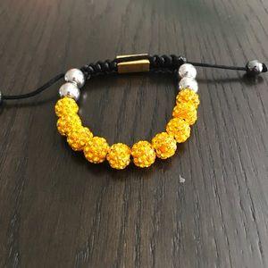 Jewelry - Gold Unisex Shamballa Bracelet