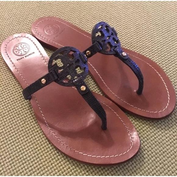 148e804e62af Tory Burch Tejus navy Mini Miller Sandals Sz 9. M 59cfe045f09282608205ac1b