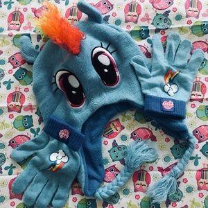 ab83e00ac32 My Little Pony Accessories - My Little Pony Rainbow Dash Winter Hat Gloves  Set