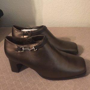 AJ Valenci Booties leather buckle