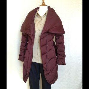 Tahari Burgundy Down Coat