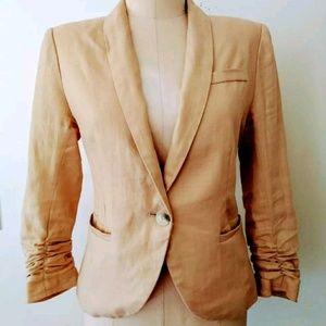 Nordstrom's Gibson Beige Linen Blazer Jacket