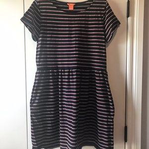 Joe Fresh Navy Striped Dress. Size Large