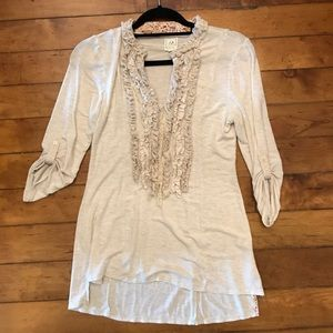 Anthropologie One September Cream Top Size P