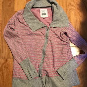 Victoria secret sport zipper tunic cowl asymmetric